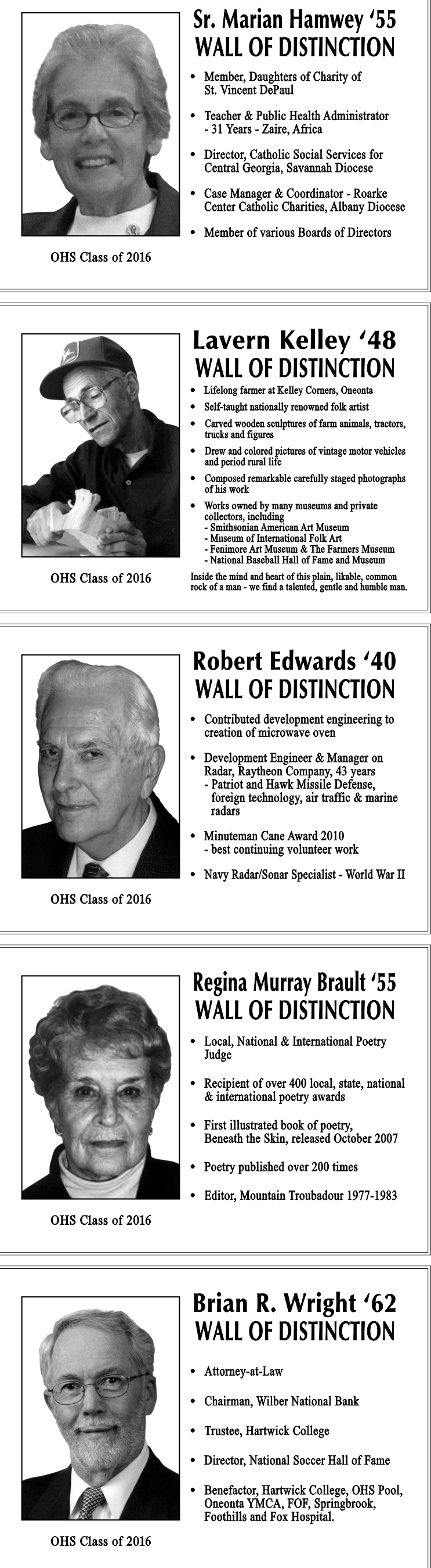 2016 Wall of Distinction